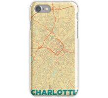 Charlotte Map Retro iPhone Case/Skin