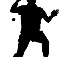 Ping Pong Player Silhouette by kwg2200