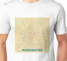 Manchester Map Retro Unisex T-Shirt