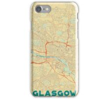 Glasgow Map Retro iPhone Case/Skin