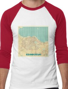 Edinburgh Map Retro Men's Baseball ¾ T-Shirt