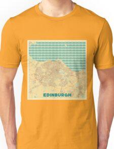 Edinburgh Map Retro Unisex T-Shirt