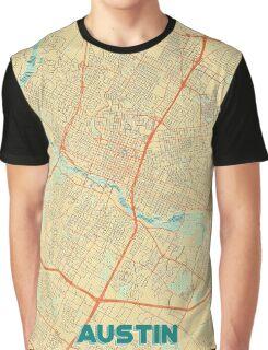 Austin Map Retro Graphic T-Shirt