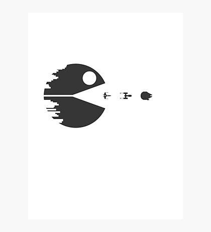 Pac Man Death Star Photographic Print