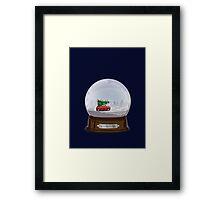 Christmas globe Framed Print