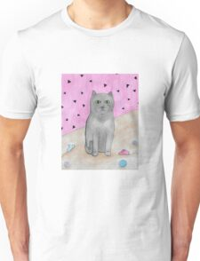 Bored Cat with Toys Unisex T-Shirt