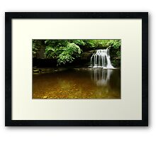 WHITE WATERFALL Framed Print