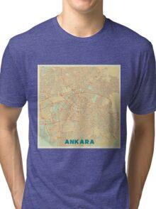 Ankara Map Retro Tri-blend T-Shirt