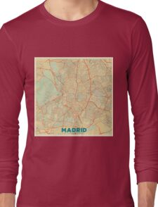 Madrid Map Retro Long Sleeve T-Shirt