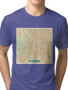 Madrid Map Retro Tri-blend T-Shirt
