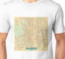 Madrid Map Retro Unisex T-Shirt