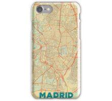 Madrid Map Retro iPhone Case/Skin