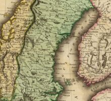 Vintage Map of Norway and Sweden (1831) Sticker