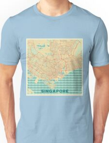 Singapore Map Retro Unisex T-Shirt