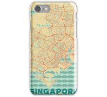 Singapore Map Retro iPhone Case/Skin