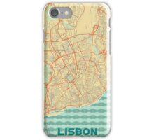 Lisbon Map Retro iPhone Case/Skin