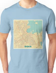 Doha Map Retro Unisex T-Shirt