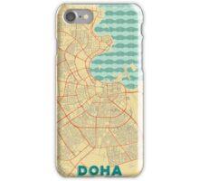 Doha Map Retro iPhone Case/Skin