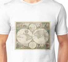 Vintage Map of The World (1680) Unisex T-Shirt