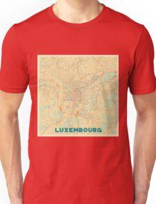 Luxembourg Map Retro Unisex T-Shirt