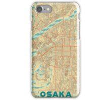 Osaka Map Retro iPhone Case/Skin