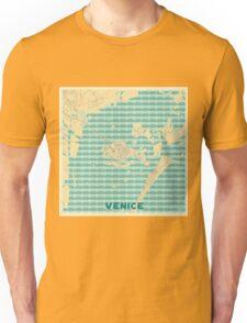 Venice Map Retro Unisex T-Shirt