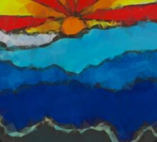 Blue Ridge Mountains go abstract Sticker