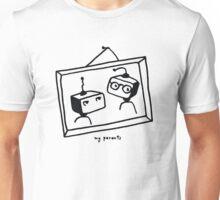 Portret of old robots couple Unisex T-Shirt