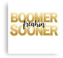 Gold Foil Boomer Freakin Sooner Canvas Print