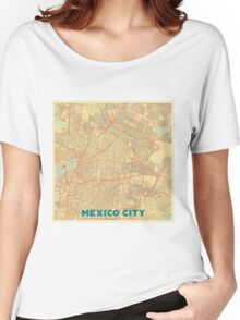 Mexico City Map Retro Women's Relaxed Fit T-Shirt