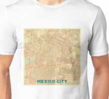 Mexico City Map Retro Unisex T-Shirt