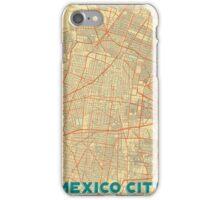 Mexico City Map Retro iPhone Case/Skin