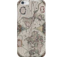Vintage Map of The World (1630) iPhone Case/Skin