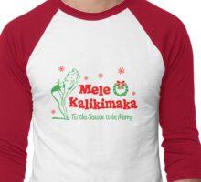 Mele Kalikimaka Hawaiin Christmas Men's Baseball ¾ T-Shirt