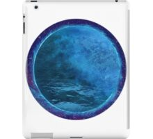 Abstract digital painting of blue planet iPad Case/Skin