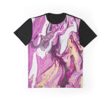 Abstract Purple and Gold Fluid Painting I Graphic T-Shirt