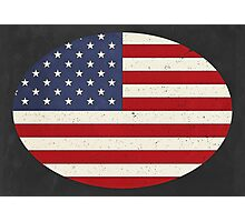 Vintage Stars and Stripes  Photographic Print