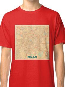 Milan Map Retro Classic T-Shirt