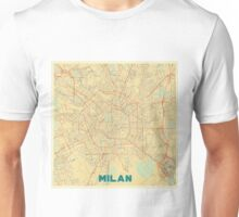 Milan Map Retro Unisex T-Shirt