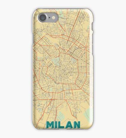 Milan Map Retro iPhone Case/Skin