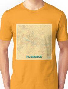 Florence Map Retro Unisex T-Shirt