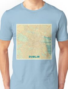Dublin Map Retro Unisex T-Shirt