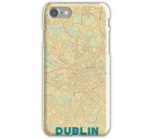 Dublin Map Retro iPhone Case/Skin