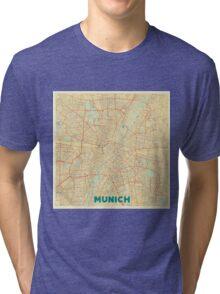 Munich Map Retro Tri-blend T-Shirt