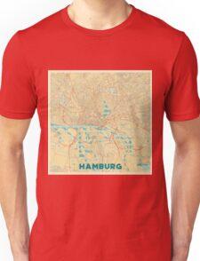 Hamburg Map Retro Unisex T-Shirt