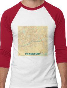 Frankfurt Map Retro Men's Baseball ¾ T-Shirt
