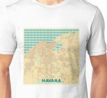 Havana Map Retro Unisex T-Shirt