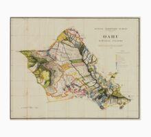 Vintage Map of Oahu Hawaii (1906) T-Shirt