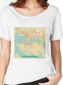 Hong Kong Map Retro Women's Relaxed Fit T-Shirt