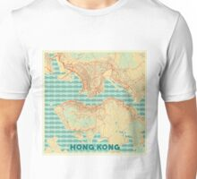 Hong Kong Map Retro Unisex T-Shirt
